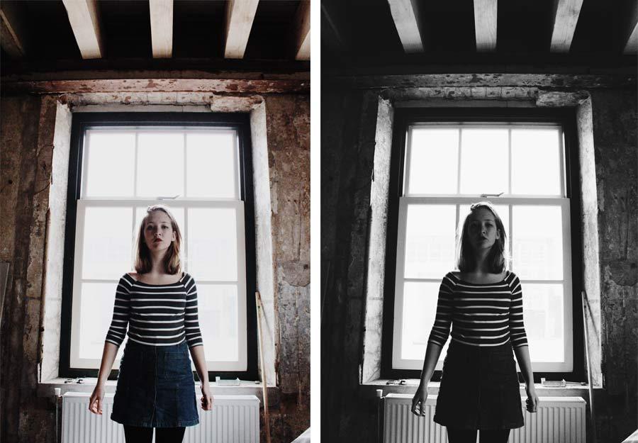 zelfportretten aan het mysterieuze venster