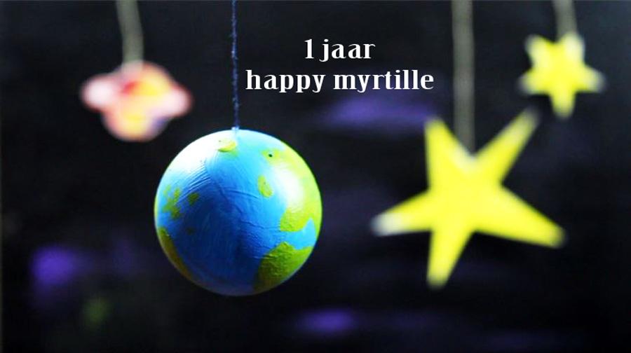 één jaar happy myrtille!