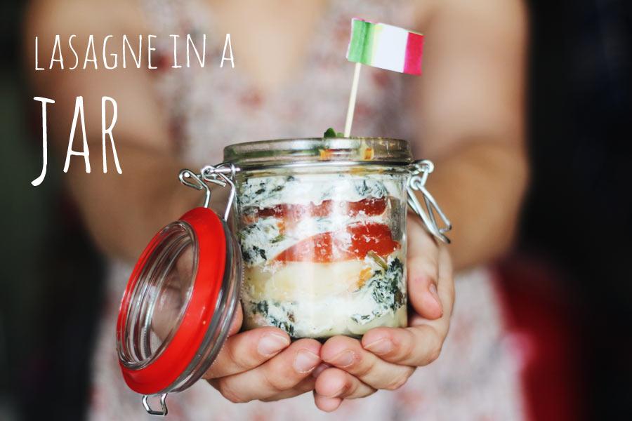 zalm lasagne in a jar ~ recept