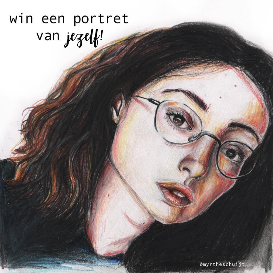 win een portret van jezelf!