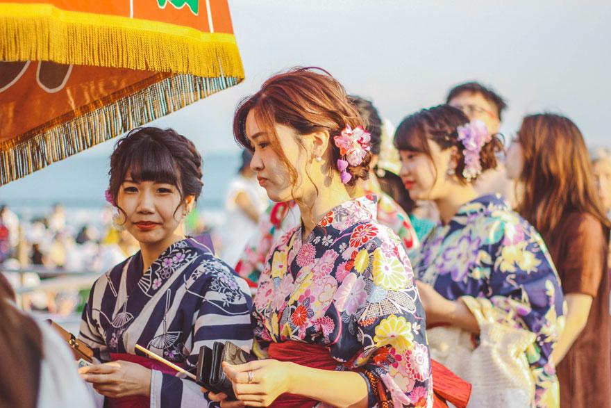 een oceaan aan kimono's